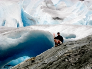 ice cave on the Mendenhall Glacier