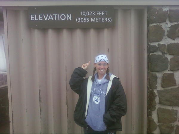 Jessica @ 10K FT Haleakala