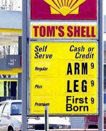 Increase in Oil Can be felt at the Pump