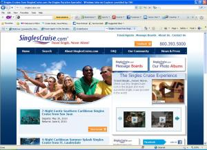 SinglesCruise.com New Homepage