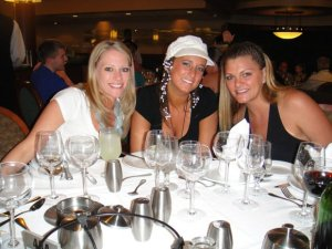 Dinner on the Spring Break Party Cruise